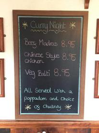 Tonight is Curry Night! All curry's £8.95 served with a choice of chips or rice including poppadom and mango or lime and pickle chutney. #angarrackinn #currynight #dogfriendly #summer #cornwall